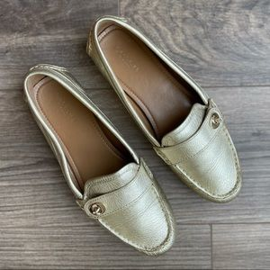 COACH Gold Loafers